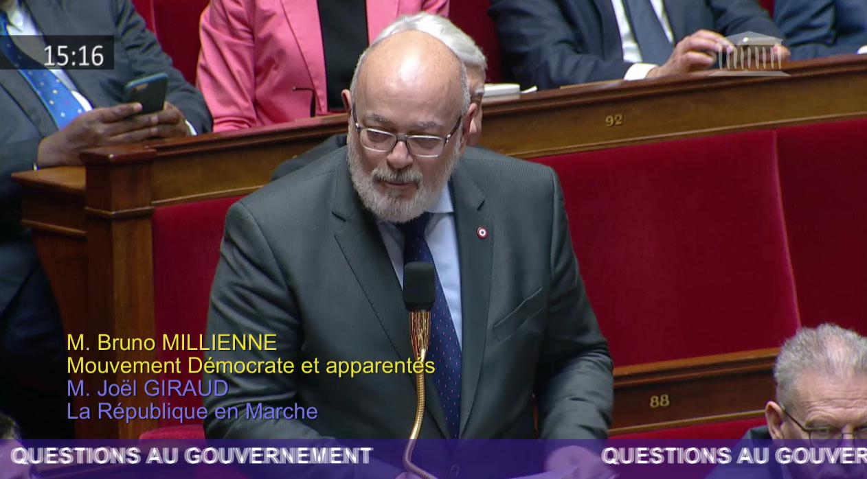 Pollution et recyclage du plastique : Question de Bruno Millienne au Gouvernement