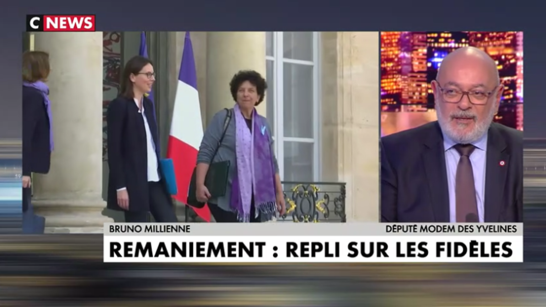 Remaniement, affaire « Tapie », propos de Hollande, Brexit : Bruno Millienne était l'invité de CNews